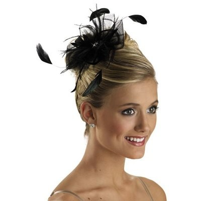 TULLE FEATHER HAIR POUF