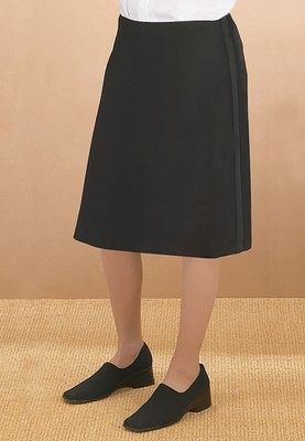LADIES BELOW THE KNEE TUXEDO SKIRT