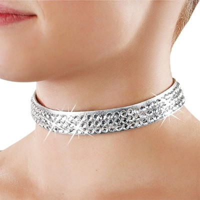ADJUSTABLE RHINESTONE CHOKER