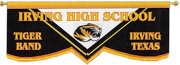 CUSTOM BANNER - IRVING HIGH SCHOOL