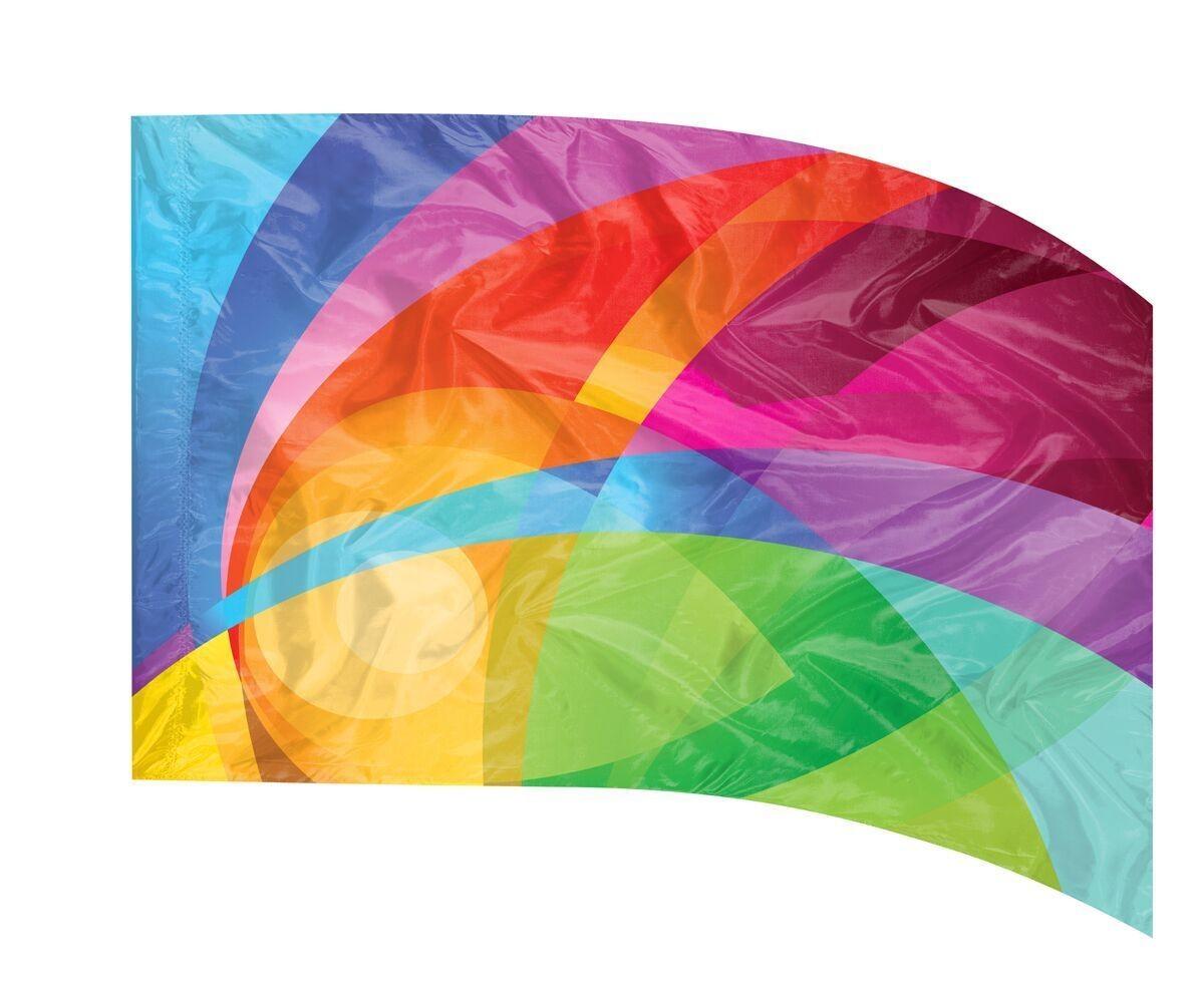 ENVISION #706 RAINBOW RAYS DIGITAL FLAG