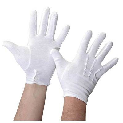 COTTON MARCHING BAND GLOVES WITH SNAP