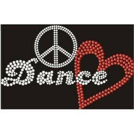 PEACE LOVE DANCE RHINESTONE