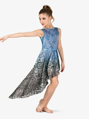 HAND PAINTED LACE TANK LYRICAL OVERDRESS