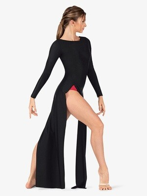 PERFORMANCE BOAT NECK TUNIC DRESS