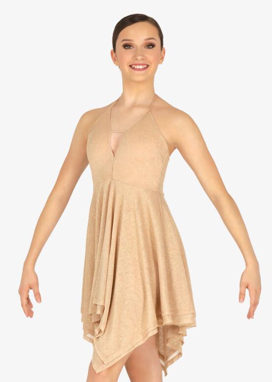 GLITTER HALTER DRESS