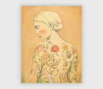 Flora Tattoo Girl