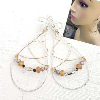 Silver N Gold Earrings