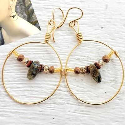 Golden Blues Earrings