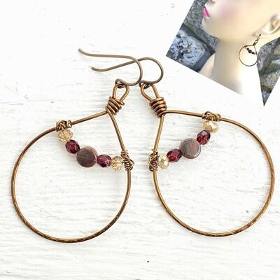 Gosh Garnet Earrings