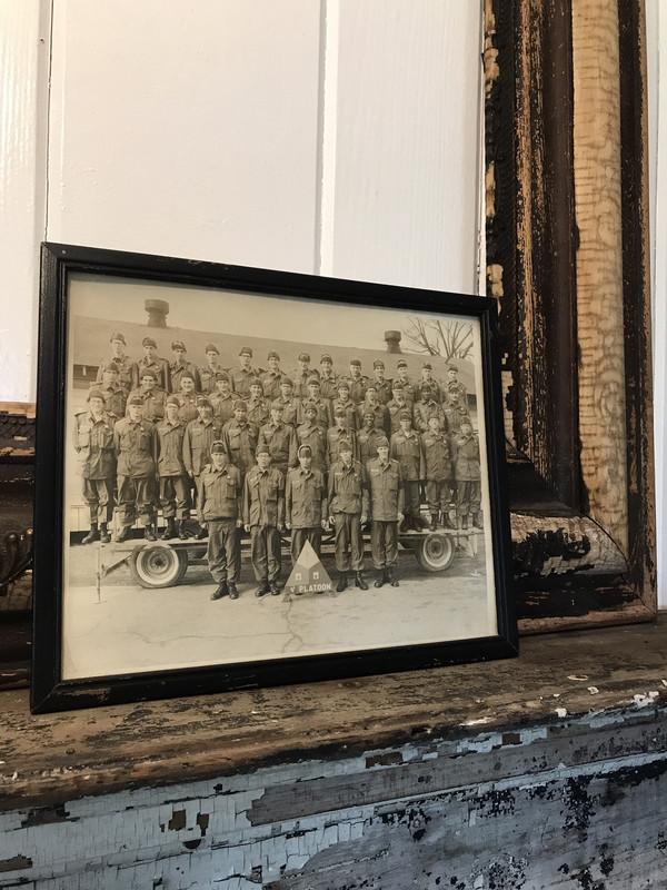 Antique Framed military shot