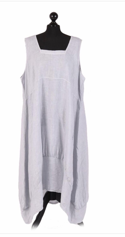 "European Linen dress ""Grey"" ""Eleanore"""