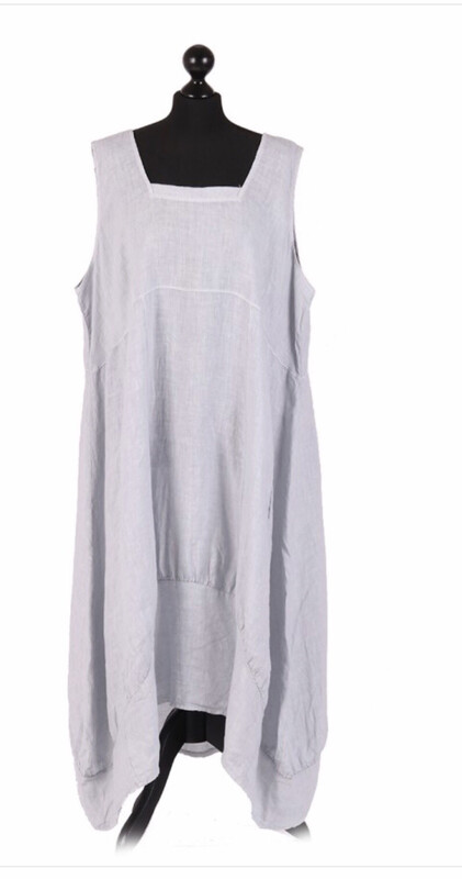"European Linen dress ""Grey"" ""Eleanore"""