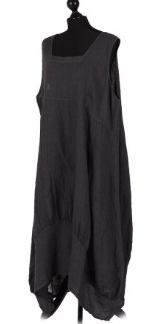 "European Linen dress ""black"" "" Eleanor"""