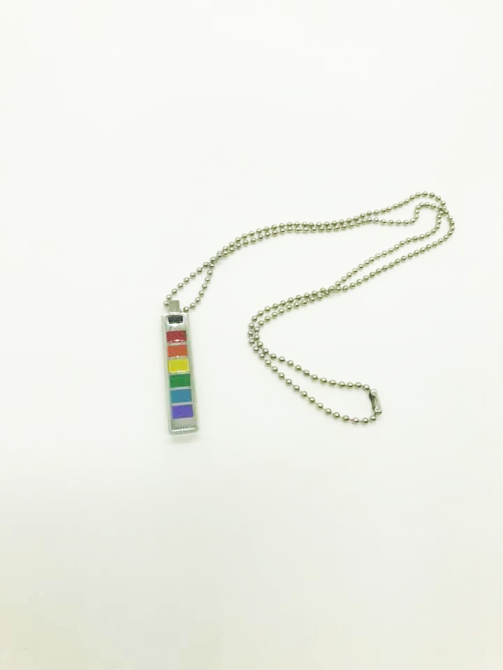 Rainbow Metal Pendant 11066