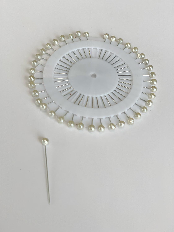 White Hijab Pin Wheel