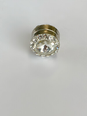 Silver Round Rhinestone Magnet