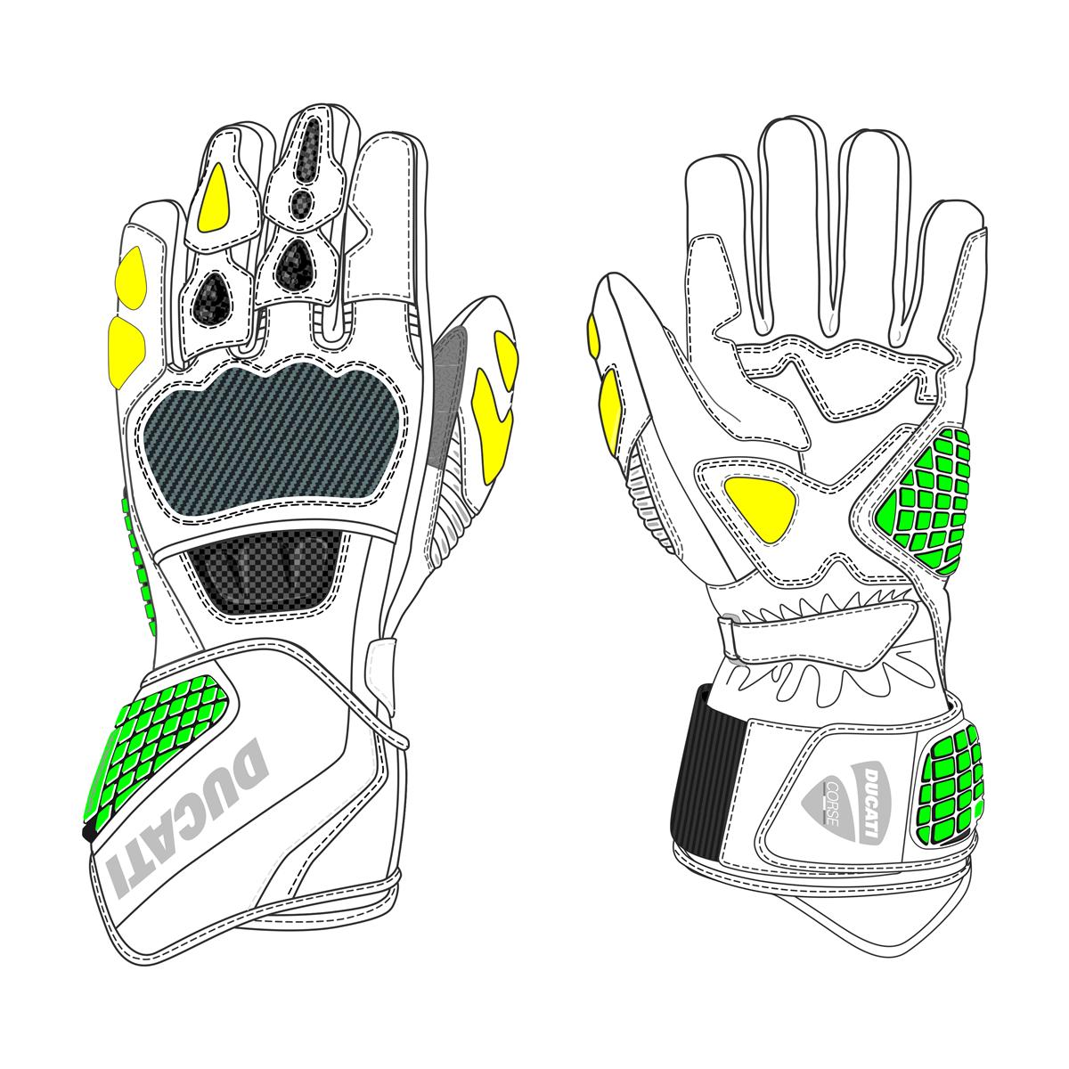 Ducati Corse C3 Leather gloves