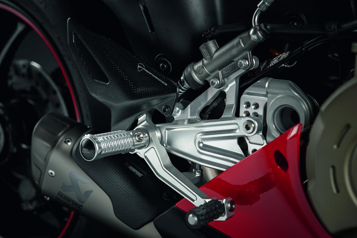Adjustable rider footpeg kit.