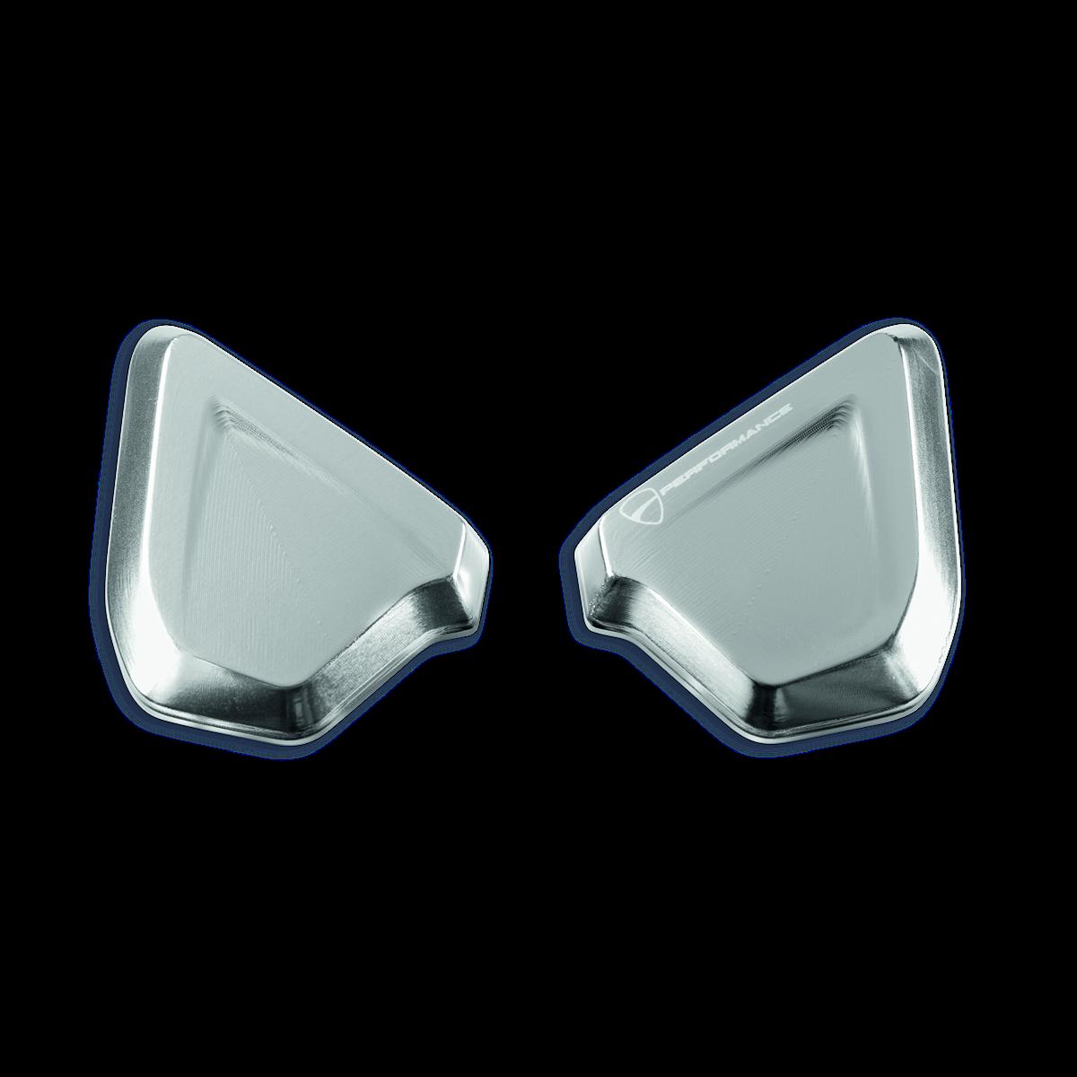 Billet aluminum caps to plug mirror mounting holes. 97380761A