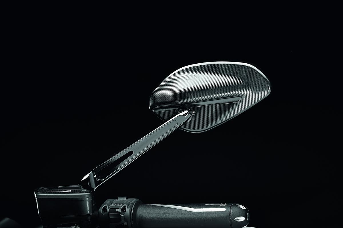 Billet aluminium rearview mirror Black RH