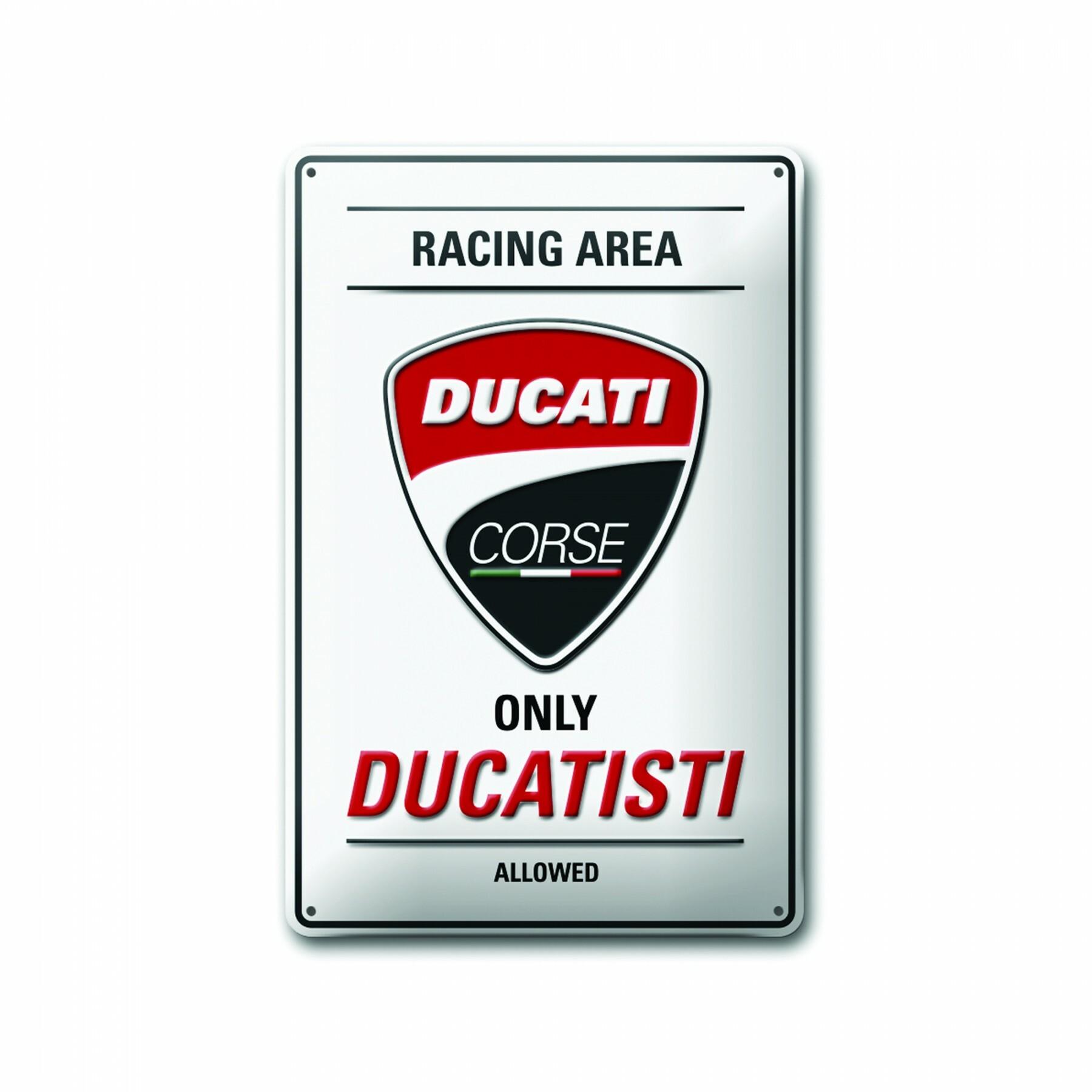 Metal plate Ducati Corse 20x30 cm 987699450