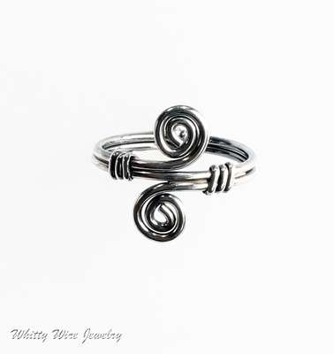 Sterling Silver Celtic Swirl Ring, custom made