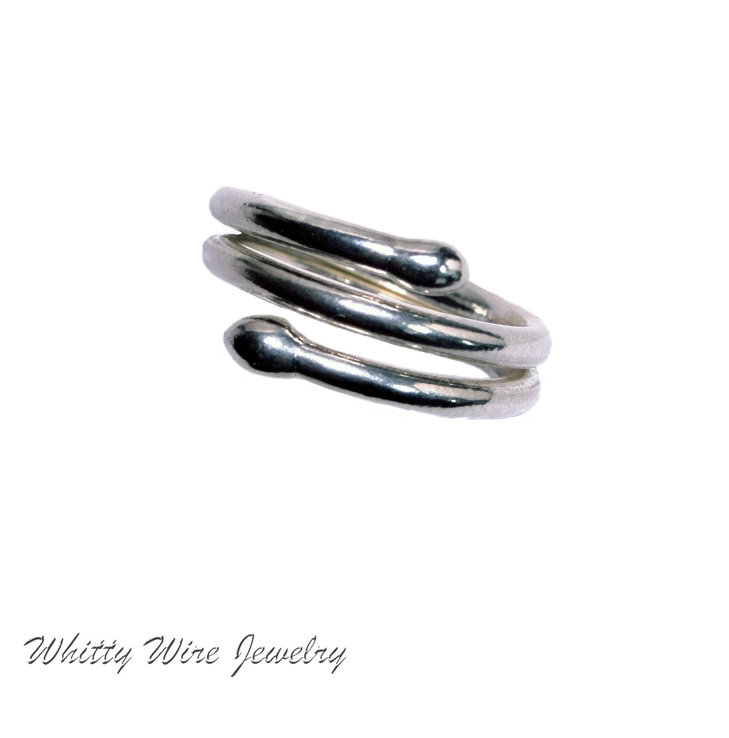 Fine Silver double Wrap ring- custom