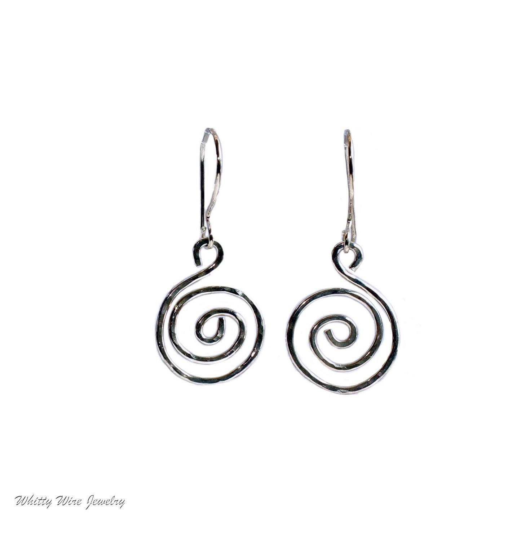 Sterling Silver Celtic Swirl Earrings