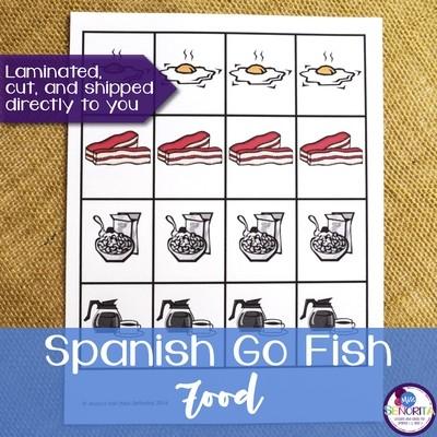 Spanish Go Fish - Food Vocabulary