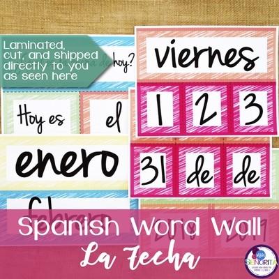 Spanish Word Wall - La Fecha