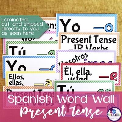 Spanish Word Wall - Present Tense