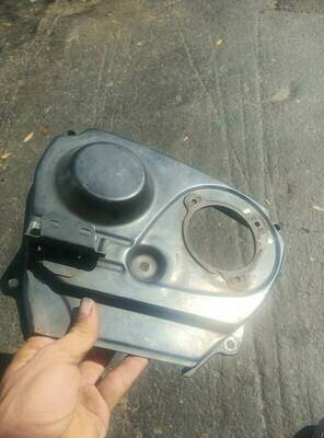 rb25 cam gear cover and back plate (used)