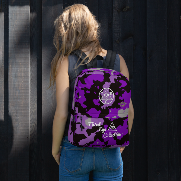 Purple Camo Custom Third Eye Collective Backpack