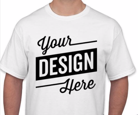 Design Your OWN Customized T-Shirt - Add Your Text Print (front only)