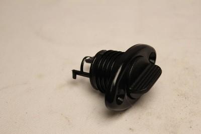 Lenseplugg m/skruehull nylon sort