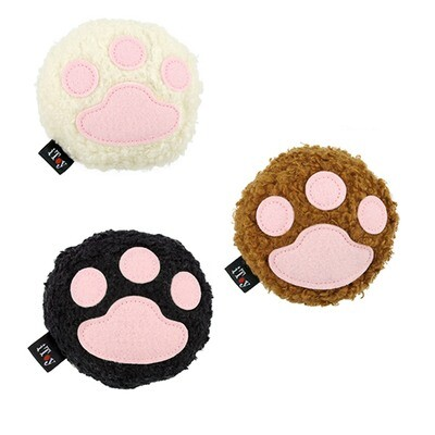 Fluffy Paw Cushion Toy w/Bell for Small Pets (Set of 3 Paws)
