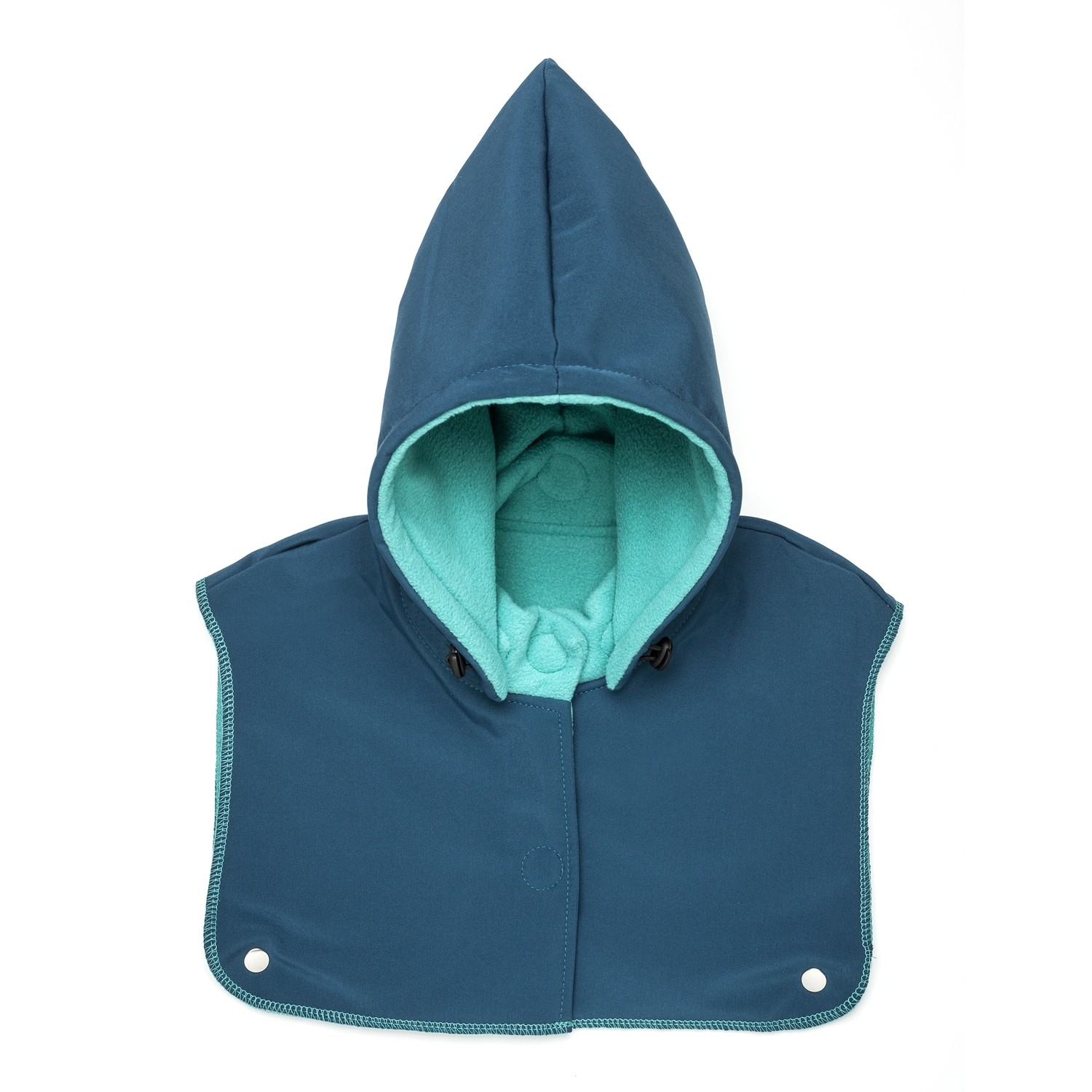 Turquois baby hood and neck warmer