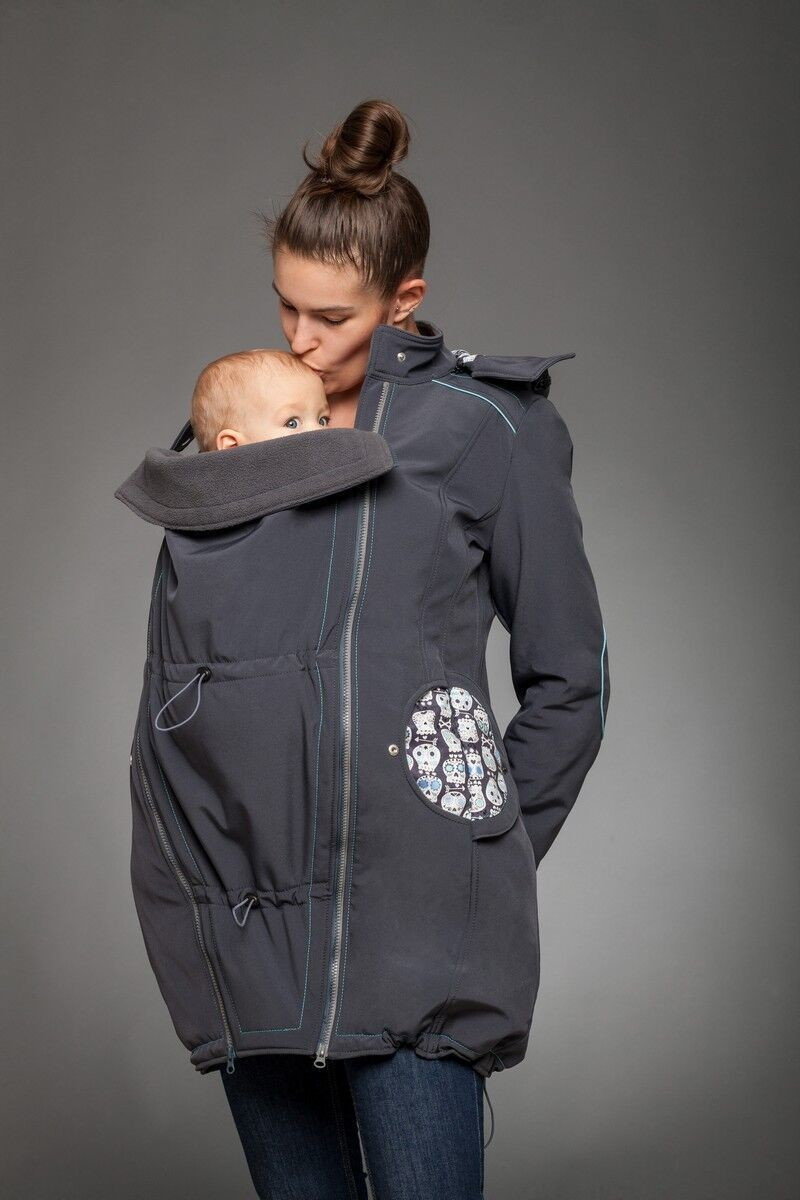 Skully babywearing coat