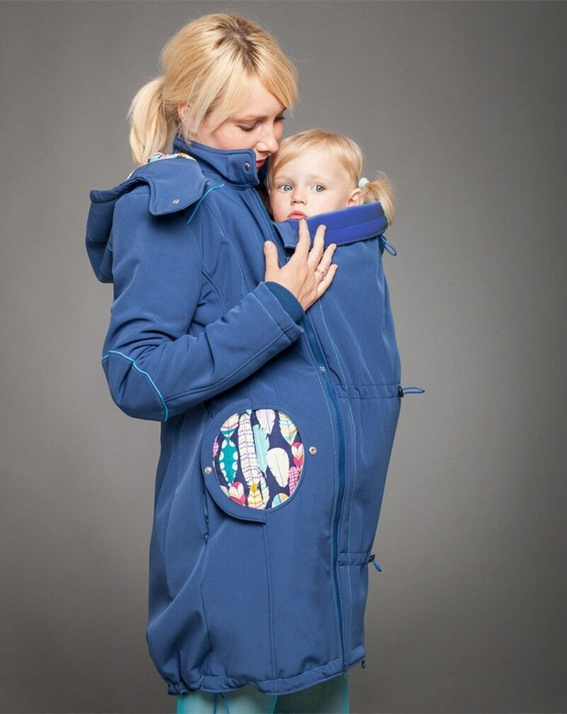 Feather babywearing coat