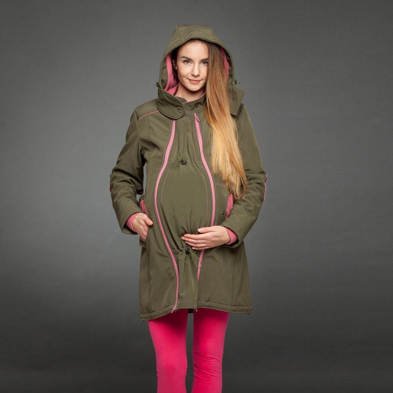 Olive babywearing coat