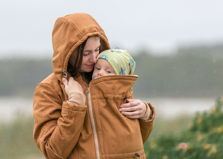 Saffron babywearing coat