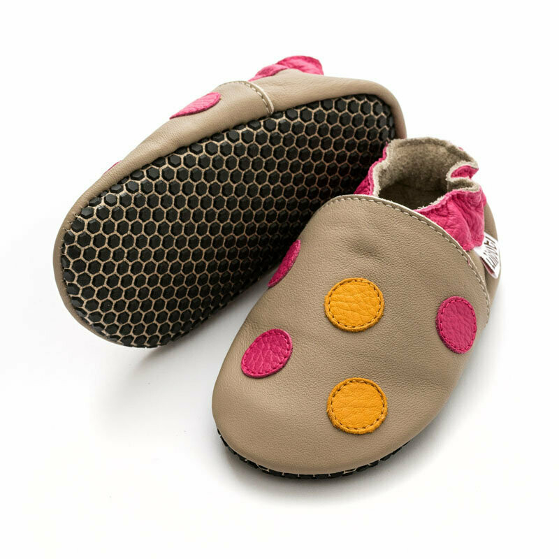 Polka Dots soft-soles with anti-slip soles