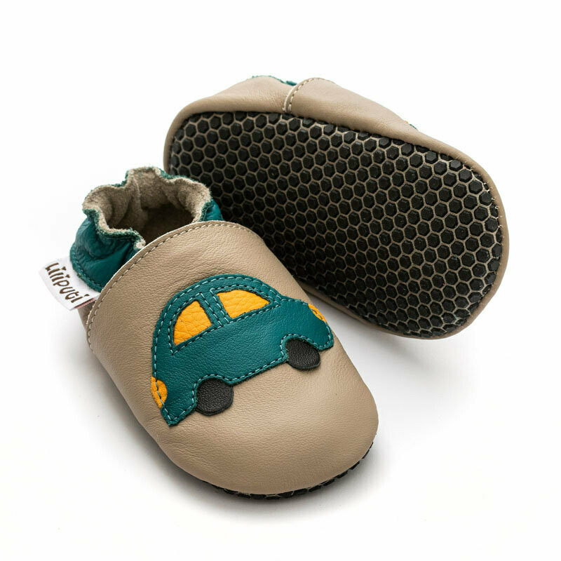 Green Car soft-soles with anti-slip soles