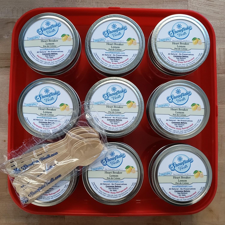 Heart Breaker  Lemon Pot de Creme Jars (9 pack)