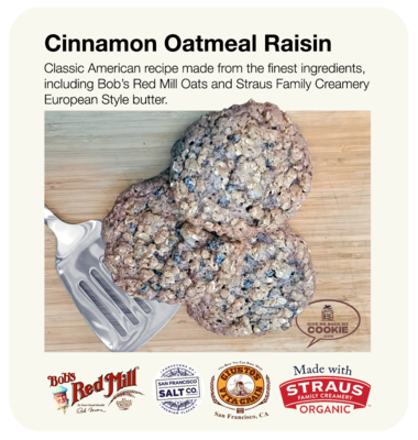 Large Cinnamon Oatmeal Raisin