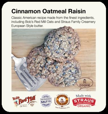 Large Cinnamon Oatmeal Raisin Cookies