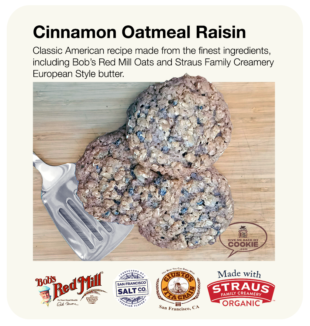 Small Cinnamon Oatmeal Raisin Cookies