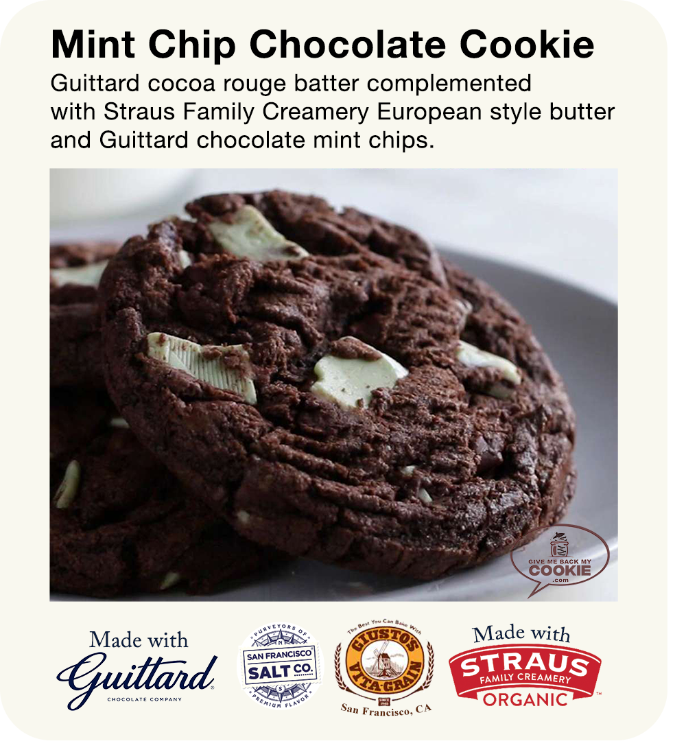 Large Chocolate Mint Cookies
