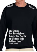 PG Black White Collection: Quoted Sweatshirt